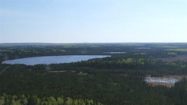 Horn River basin in northeastern British Columbia
