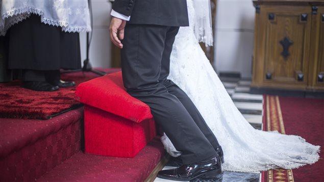 Un mariage à l'église