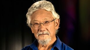 Scientist David Suzuki urges voters to question candidates and find out about party positions on climate change before casting their ballots.