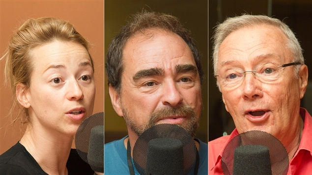Karine Vanasse, Michel Rabagliati et Gilbert Sicotte