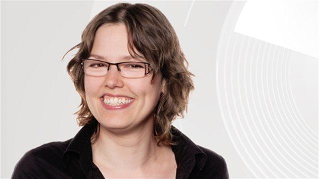 Maude Rivard, animatrice de l'�mission Au coeur du monde