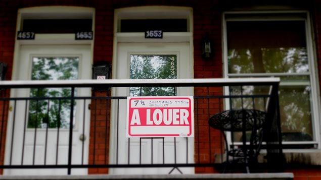 Un appartement à louer au Québec.