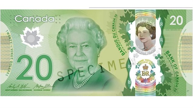 The commemorative note features an added colour image of the young Queen from 1954 plus other features
