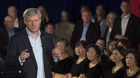 Le chef conservateur, Stephen Harper
