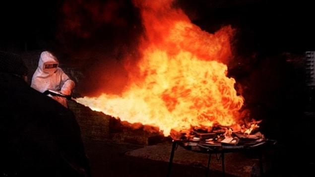 Une scène du film <i>Fahrenheit 451</i>, de François Truffaut (1966), inspiré du livre de Ray Bradbury