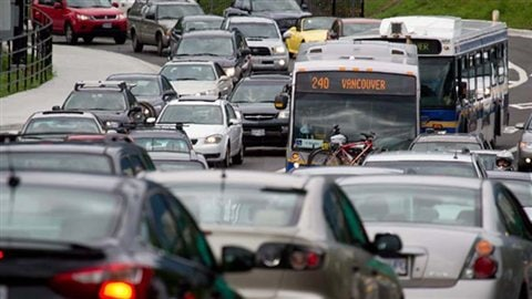 Des embouteillages dans le Grand Vancouver