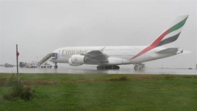 Le Airbus 380 du transporteur Emirates Airline
