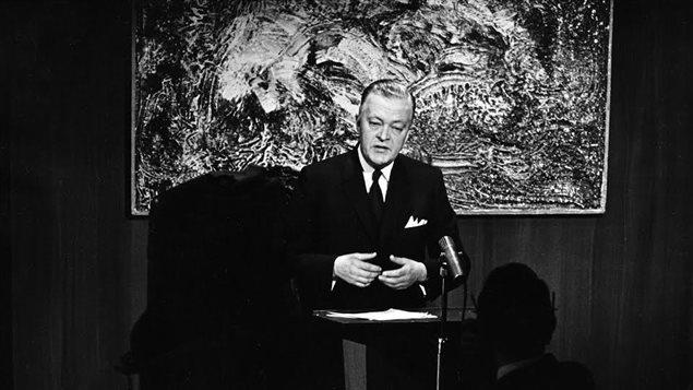 Jean Lesage, premier ministre du Québec, le 10 mars 1963