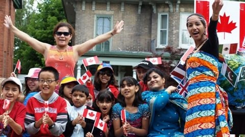 Multi-culturalism on display at one Peterborough, Ontario's Canada Day celebrations.