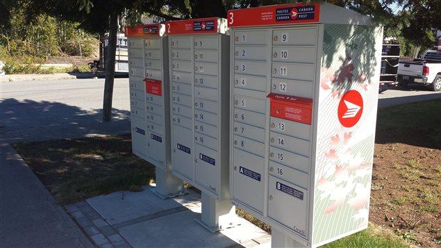 Les nouvelles boîtes postales de Postes Canada à Rouyn-Noranda