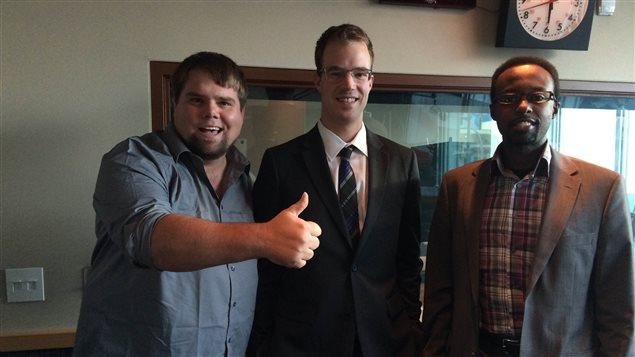 Alex Bossé, Juste Kagisye et Albert Nolette étaient à Edmonton pour ce 3e débat des candidats à l'élection à l'ACFA. Oumar Lamana et Étienne Rousselle étaient également du débat.