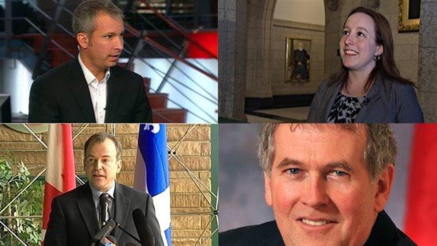 Alexandrine Latendresse, Francis Leblanc, Bernard Bigras et André Bachand