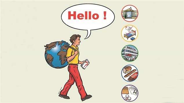 La couverture d'<i>Hello!</i>, le <i>Guide du routard pour réfugiés</i>