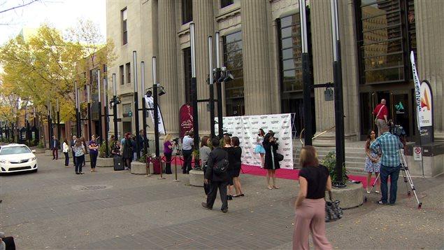 Le tapis rouge du Festival international du film de Calgary, le 23 septembre 2015