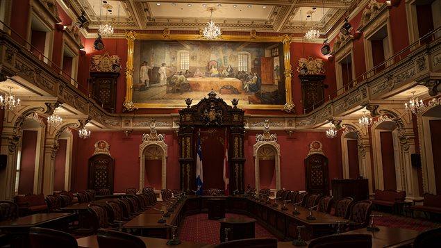 Le salon rouge de l'Assemblée nationale