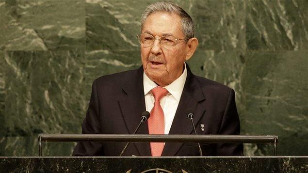 Raul Castro au siège social des Nations unies