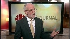 Le président-directeur général de CBC/Radio-Canada, Hubert Lacroix, en entrevue à Winnipeg