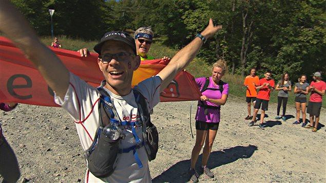 Sébastien Roulier a grimpé à 25 reprises le mont Orford en moins de 24 h.