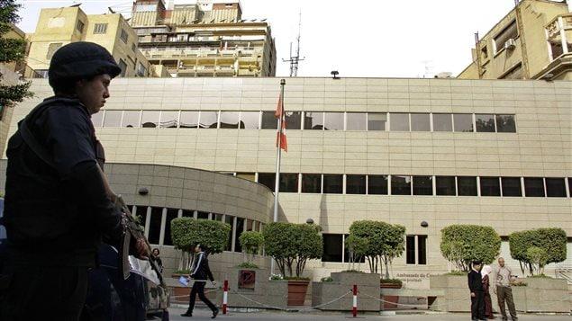 L'ambassade du Canada en Egypte.