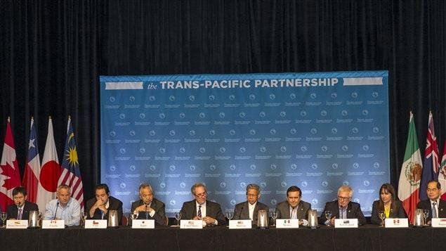 Conférence de presse dans le cadre des négociations sur les termes du Partenariat transpacifique