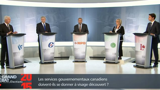 Only one election debate featured all five major party leaders and it was not broadcast on Canada's major networks.