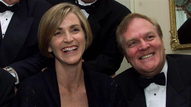 Sylvie Fréchette y Marcel Aubut en 1999.