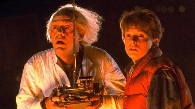 Christopher Lloyd et Michael J. Fox dans <i>Retour vers le futur</i> (1985), de Robert Zemeckis