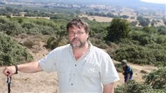 Frank Gogos, and fellow researcher David Mercer together spent years careful examination of archives, photos and maps, has correctly identified the location of Caribou Hill, Suvla Bay where this photo of Mr Gogos was taken.