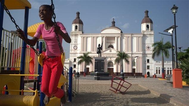 Une scène urbaine en Haïti
