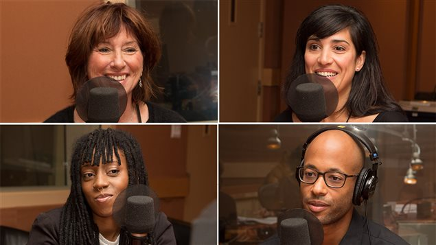 À partir du haut, à gauche, Julie Vincent, Ximena Ferrer, Joyce N'Sana et Webster