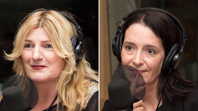Marie-France Bazzo et Nathalie Collard, co-éditrices du recueil «De quels médias le Québec a-t-il besoin?».