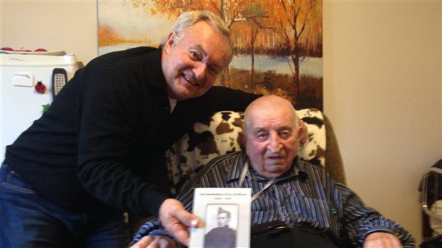 Pierre Dubuc, un vétéran de la deuxième guerre mondiale est honoré par la France.