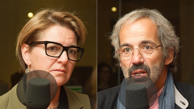 Martha Hall Findlay et Daniel Paillé