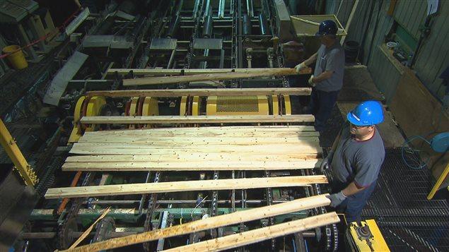 مصنع لإنتاج خشب البناء في كندا (أرشيف)