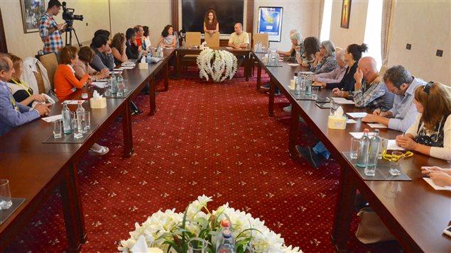 أحد لقاءات المهرجان في يريفان