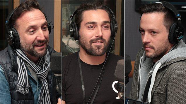 Jean- Michel Dufaux, Jordan Myall et Jean-François Leduc