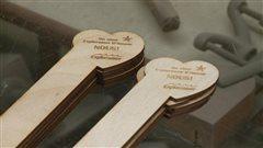 Les signets fabriqués par l'ébéniste David-Yan Auclair ont rapidement trouvé preneurs.