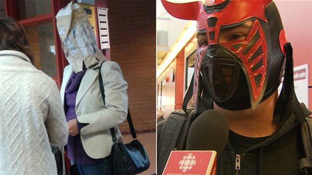 Lors des élections anticipées, des Québécois se sont présentés le visage couvert dans les bureaux de vote.