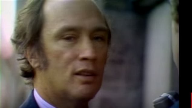 """CBC news interview with Prime Minister Pierre Elliot Trudeau on October 13.  """"Just watch Me...  I think society must take every means to defend itself...I think it's only weak-kneed bleeding hearts who are afraid to take thses measures"""""""
