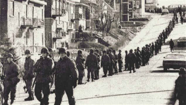 Troops deployed during the surrender of the kidnappers of James Cross