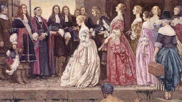 <i>L'arrivée des Filles du Roi en 1667</i>