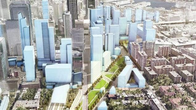 Le projet du nouveau Quartier des gares de Montréal.