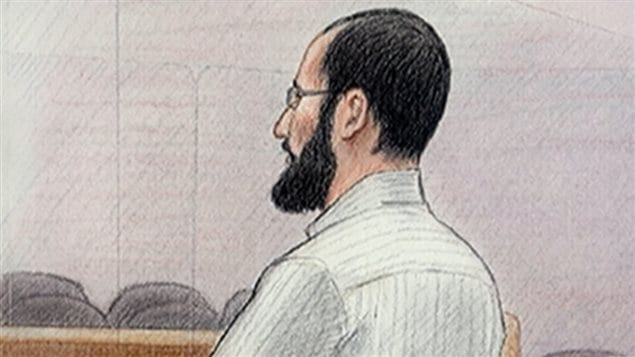 Retrato dibujado de Hiva Alizadeh en la corte.