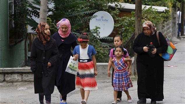 Des réfugiés syriens dans un quartier populaire d'Ankara, capitale de la Turquie