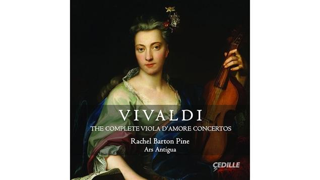 La pochette de l'album <i>Vivaldi : The Complete Viola d'Amore Concertos</i> de Rachel Barton Pine, paru sous étiquette Cedille