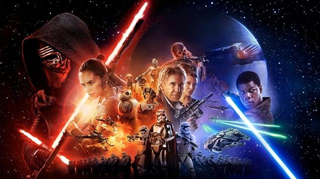 L'affiche du film « Star Wars : The Force Awakens »