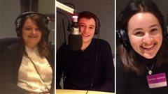 Nadia Edwards, Vincent Girard et Lisa Nanoff, participants au projet