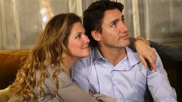 Justin Trudeau et son épouse Sophie Grégoire