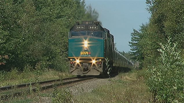 Un train Via Rail