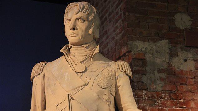 La statue originale de l'amiral Horatio Nelson au Centre d'histoire de Montréal